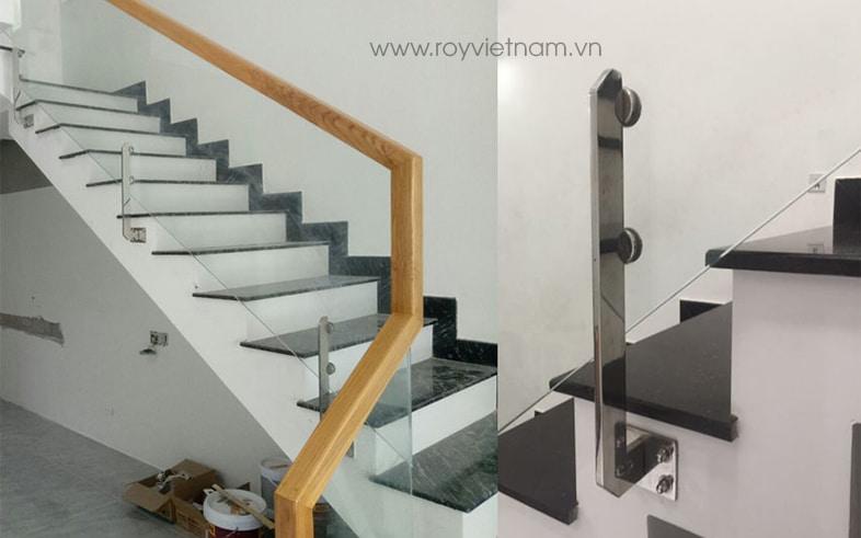 Cầu thang kính trụ lửng 5
