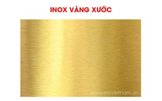 Inox vàng xước là gì? Đặc điểm, báo giá và ứng dụng